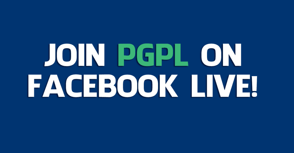 Join PGPL on Facebook Live