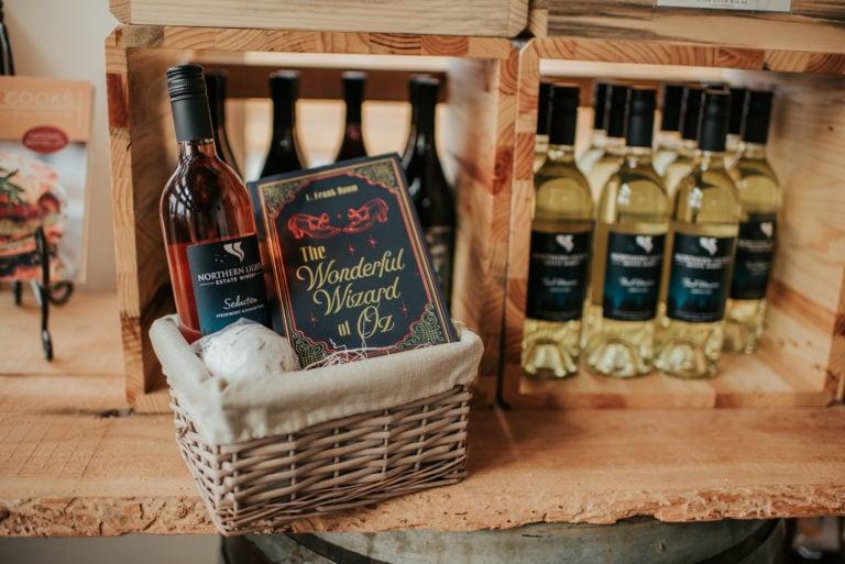 Northern Lights Estate Winery wine basket