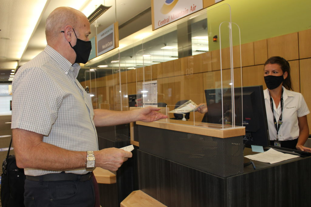 New check-in protocols at the Prince George Airport.