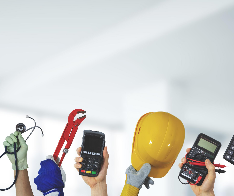 An image of different tools used in the workplace