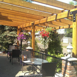 Patio at the Alpine Pub