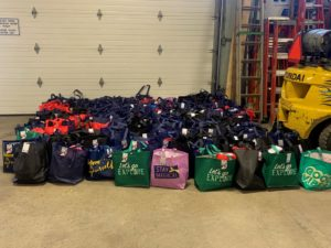 Bags ready for donation